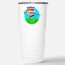 Piss on Trump Blue Dane Travel Mug