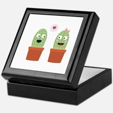 Cacti in love Keepsake Box
