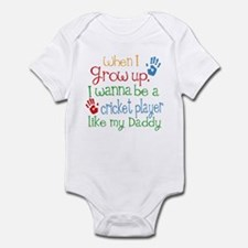 Cricket Player Like Daddy Infant Bodysuit