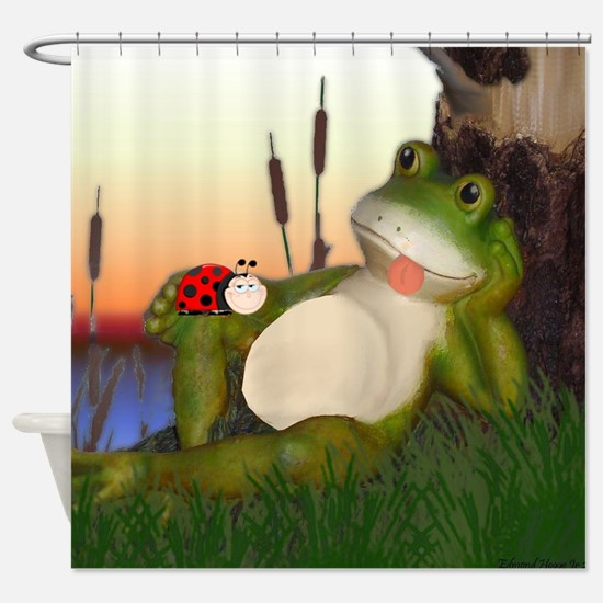 Cute Red eyed tree frog Shower Curtain