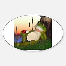 Cute Macro Sticker (Oval)