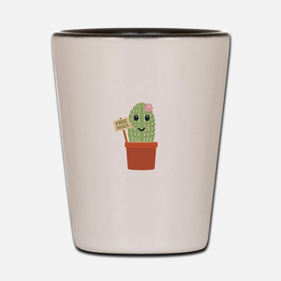 Cactus free hugs Shot Glass