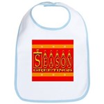 Season Greetings Tristar Ribb Bib
