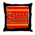 Season Greetings Tristar Ribb Throw Pillow
