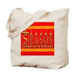 Season Greetings Tristar Ribb Tote Bag