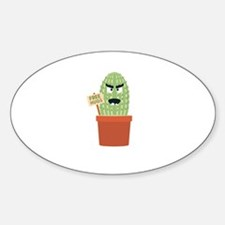 Angry cactus with free hugs Decal