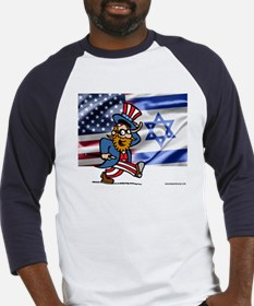 Love America, Support Israel Baseball Jersey