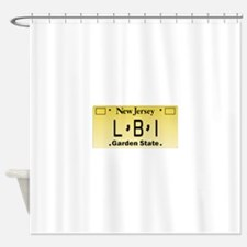 LBI NJ Tag Giftware Shower Curtain