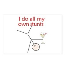 STUNTS WITH DRINK Postcards (Package of 8)