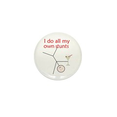 STUNTS WITH DRINK Mini Button (10 pack)