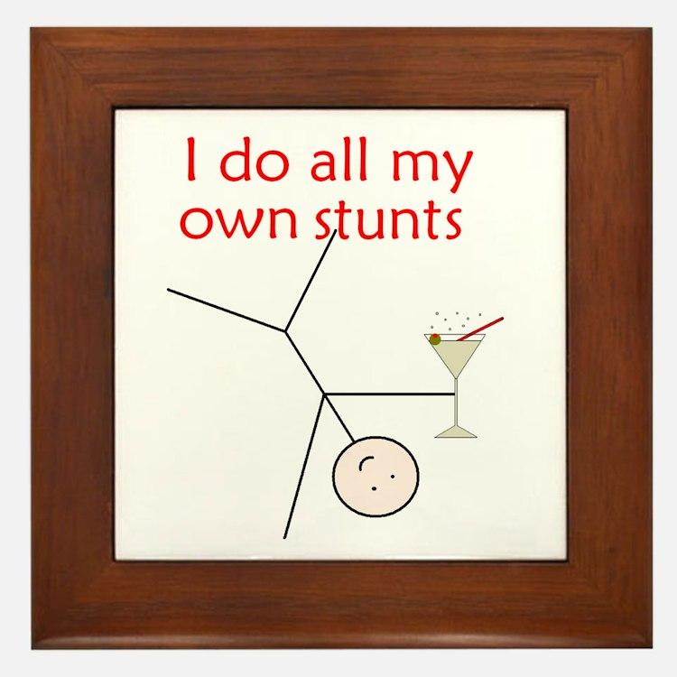 STUNTS WITH DRINK Framed Tile
