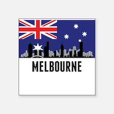 Melbourne Australian Flag Sticker