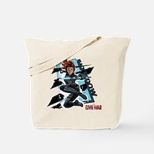 Black Widow Blue Frames Tote Bag