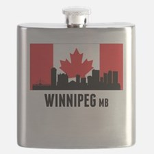 Winnipeg MB Canadian Flag Flask