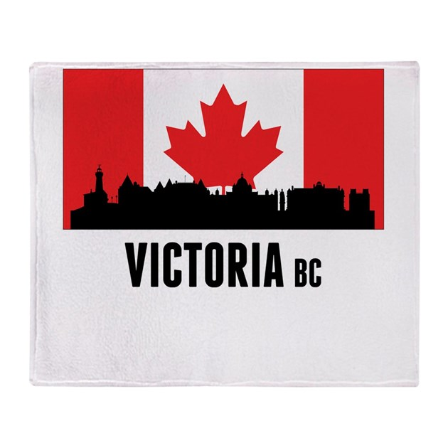 Victoria bc canadian flag throw blanket by cityskylines for Office design victoria bc