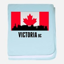 Victoria BC Canadian Flag baby blanket