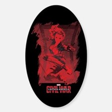 Black Widow Red Decal