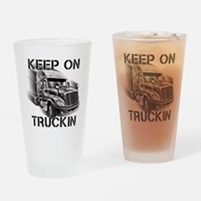 Keep on Trucking Drinking Glass