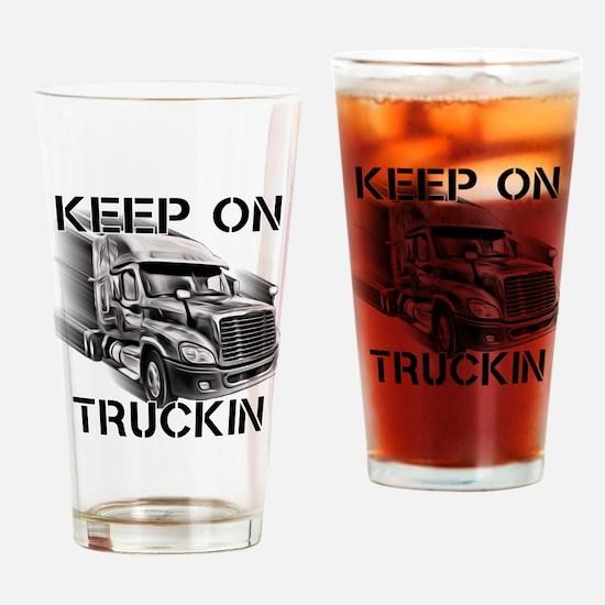 Keep on Trucking Drinking Glass