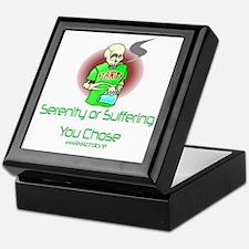 Serenity or suffering Keepsake Box