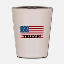 Trump 2016: American Flag Shot Glass