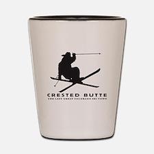 Ski Crested Butte COLORADO Shot Glass