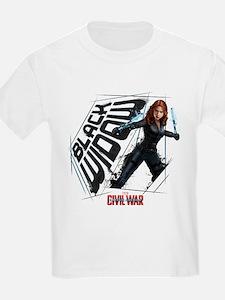 Black Widow Scratches T-Shirt