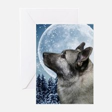 Elkhound Greeting Cards