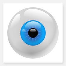 "Giant Blue Eye Square Car Magnet 3"" x 3"""