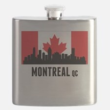 Montreal QC Canadian Flag Flask