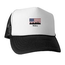 Tulsa OK American Flag Trucker Hat