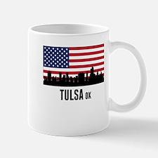 Tulsa OK American Flag Mugs