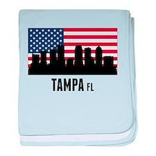Tampa FL American Flag baby blanket
