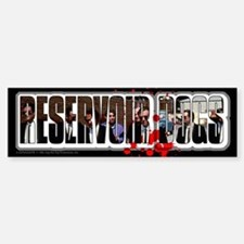Reservoir Dogs Splat Bumper Bumper Sticker