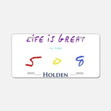 Cute Holden Aluminum License Plate
