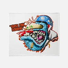 Rat fink Throw Blanket