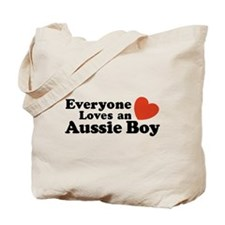 Everyone Loves an Aussie Boy Tote Bag