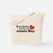 Everyone Loves an Aussie Boy Tote Bag