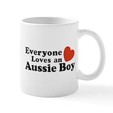 Everyone Loves an Aussie Boy Mug