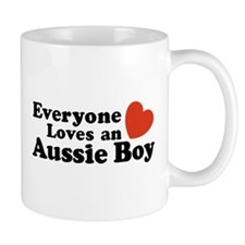 Everyone Loves an Aussie Boy Mug