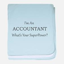 Accountant baby blanket