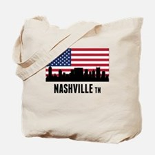Nashville TN American Flag Tote Bag