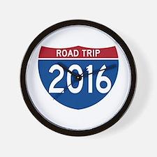 Road Trip 2016 Wall Clock