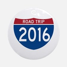 Road Trip 2016 Round Ornament