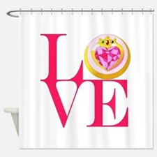 Chibilove2.png Shower Curtain
