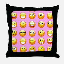 Cute Smilies Throw Pillow