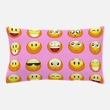 pastel pink emoji Pillow Case