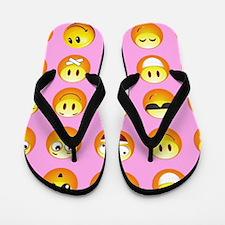 pastel pink emoji Flip Flops