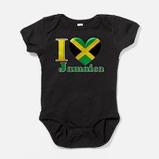 I love Jamaica Baby Bodysuit
