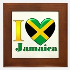 I love Jamaica Framed Tile